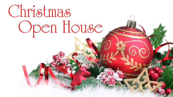November 26th 2pm-6pm  Christmas Open House