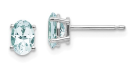 aquamarine march earrings